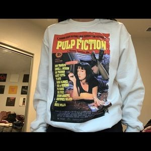 Pulp fiction crew neck, worn once
